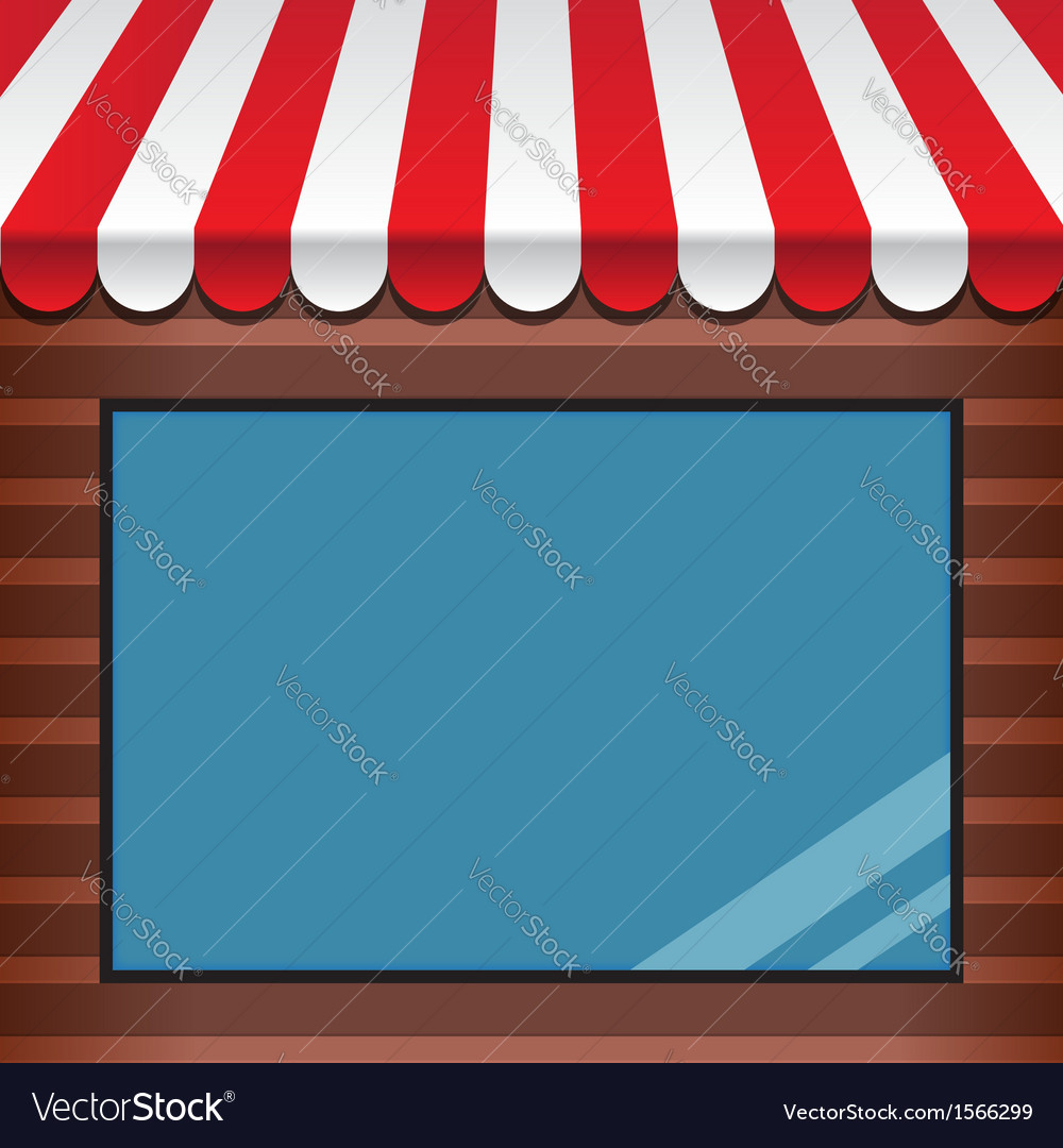 Storefront with awning vector | Price: 1 Credit (USD $1)