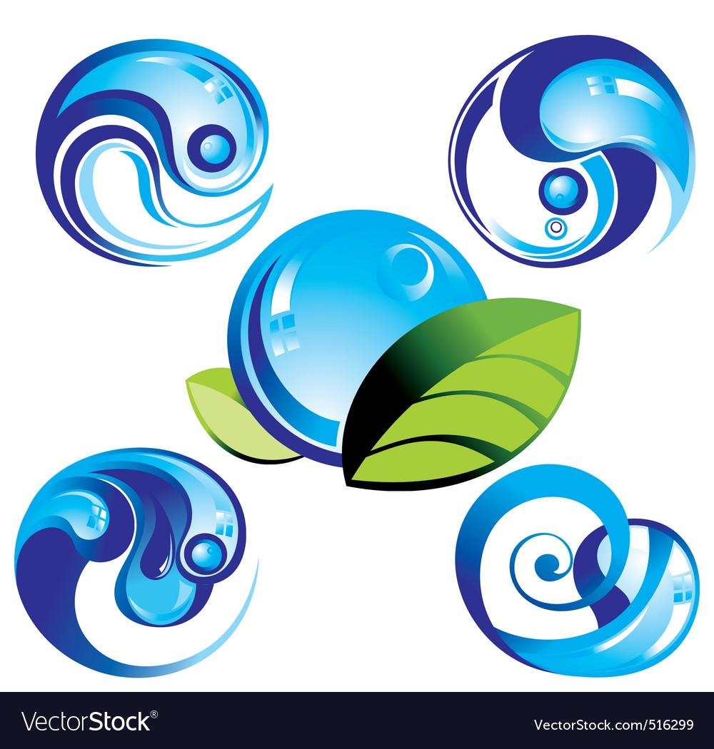 Wave symbols vector | Price: 1 Credit (USD $1)