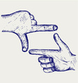 Hand symbol frame vector