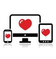 Responsive design for web computer screen icon vector