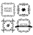 Set of calligraphic nature frames vector