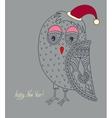 Original ornamental christmas owl concept winter vector