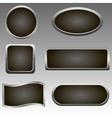 Silver buttons vector