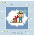Birthday greeting card vector