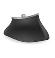 Black purse vector