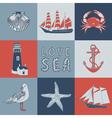 Sea seamless background vector
