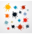 Stains splashes blots in retro colors vector