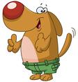 Thumbs up dog vector