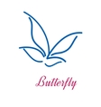 Stylized butterfly icon vector