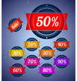 Set of sale labels with ribbons vector