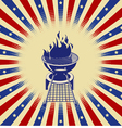 Red white and bbq vector