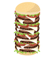 Big cheese burger on a white background vector