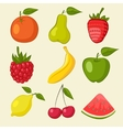 Fruit and berries icons vector