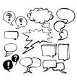 Doodle speech bubbles vector