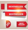 Bestseller banners labels vector