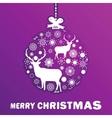 Purple and pink christmas ball eps 8 vector