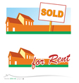 Real estate banners vector