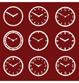 Red watch dials eps10 vector