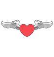 Heart angel design elements vector