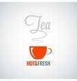 Tea cup flavor background vector