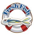 A fresh fish label vector