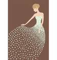 Bride in the dress made of flowers vector