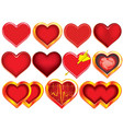 Collection of hearts vector