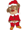 Bear cub in a red pajamas vector