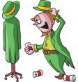 Drunk leprechaun vector