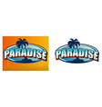Paradise sign vector
