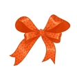 Orange gift bow vector