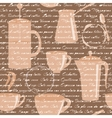 Seamless pattern with coffee types text vector