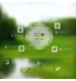 Natural template for eco website vector
