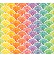 Fan rainbow seamless pattern vector