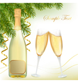 Champagne with bottle vector