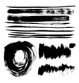 Strokes of black paint vector