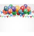 Colorful birthday balloons vector