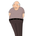 Smiling chinese pensioner vector