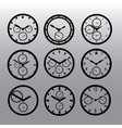 Chronograph watch dials eps10 vector