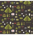 Seamless pattern of flat colorful camping vector