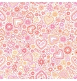 Valentines day artistic seamless background vector