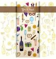 Wine and coctail card holiday pattern with love vector