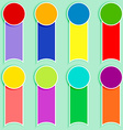 Set of multicolor tags-2 vector