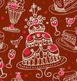 Seamless sweets pattern vector