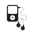 Black mp3 player vector