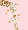 Giraffe and baby vector