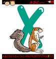 Letter x for xerus cartoon vector