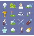 Golf icon flat vector