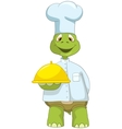 Funny turtle chef vector