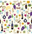 Wine and coctail seamless background holiday vector